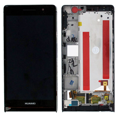 Huawei Ascend P6 LCD displej + dotyková plocha + rám Praha
