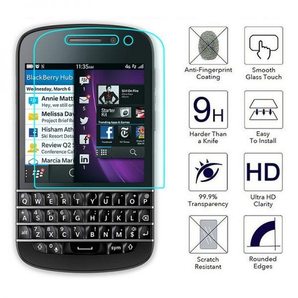 Ochranné tvrzené sklo Blackberry Q10