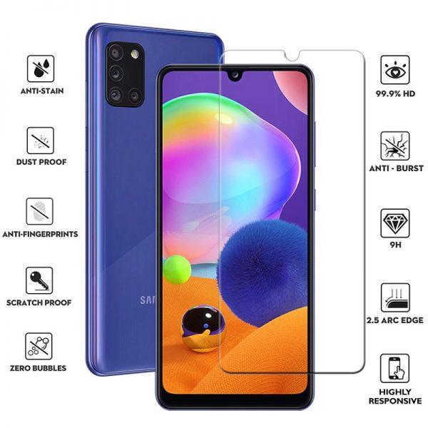 Ochranné tvrzené sklo Samsung Galaxy A31